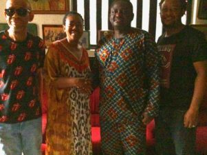 At Home With Okosuns: Femi Adesina in emotional mood, as Buhari's Adviser visits Sunny Okosun's family in Lagos