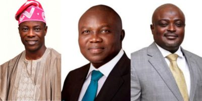 Funfare as Agege community adopts Ambode, Obasa, Ogundimu for another term
