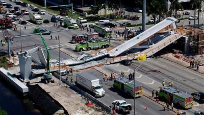 Four dead as bridge collapses at Florida International University
