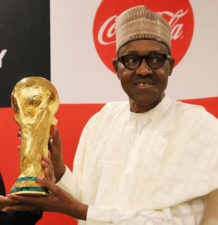 Russia 2018: Buhari pledges support for Super Eagles, as he receives FIFA World Cup trophy, CHAN Eagles, Winter Olympics Representatives in Abuja