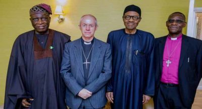 Archbishop of Canterbury delighted Buhari seeking re-election, as Nigeria's President reveals local politicians' hands, others in herdsmen imbroglio