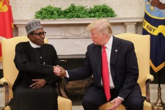 Buhari arrives White House for meeting with Trump