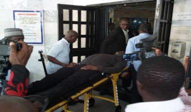 Dino Melaye still guarded by policemen in hospital