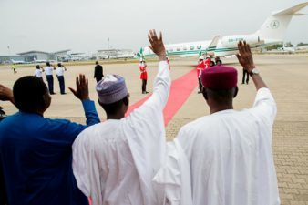 Buhari heads to London for routine medical review, after receiving letters of credence from Bostwana, Lebanon, Netherlands' Ambassadors