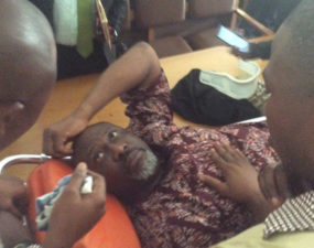 Dino Melaye arraigned in stretcher, granted N90m bail but re-arrested
