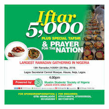 Democracy Day: 5,000 Muslims holds special Iftar to pray for Nigeria in Lagos