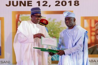 Remarks by His Excellency Muhammadu Buhari, President of the Federal Republic of Nigeria, at the commemoration and investiture honouring the heroes of June 12, 1993 on Wednesday June 12, 2018