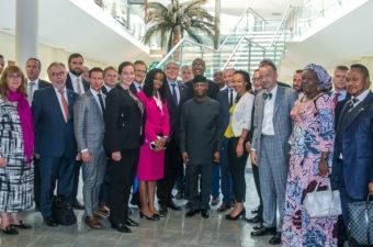 Osinbajo receives German business delegation, flags off Fayemi's APC campaign in Ekiti