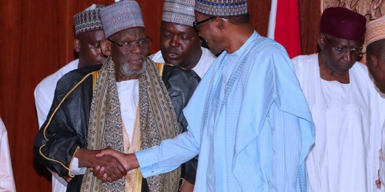 I'm inexorably committed to developing Nigeria, Buhari says as Sheikh Tijjani Inyass visits Presidency