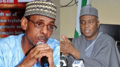 Nigerians take to social media, say Baba Ahmed's dumping APC without dumping APC Senate President's CoS position, makes him advance party for boss