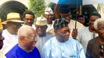 Obasanjo remains my leader, Bode George says, blames rift with ex-President on devil