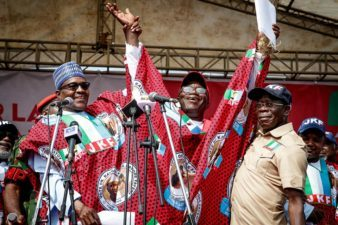Ekiti Poll: Support me by voting for Kayode Fayemi, don't waste your votes on PDP, Buhari tells Ekiti traditional rulers, electorate on visit