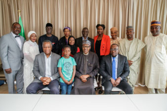 President Buhari meets with Nigerian Embassy staff, concludes successful visit to the Netherlands
