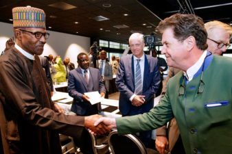 Buhari meets with CEOs of Dutch companies, assures of safe, secure Nigeria