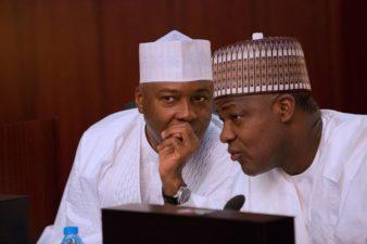 "Saraki-Must-Go: Leadership change imminent at NASS, Nigerians renew calls for Saraki, Dogara to quit, as Akpabio says, ""You are minority, resign now"""
