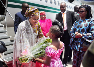 Mrs. Buhari arrives Burkina Faso