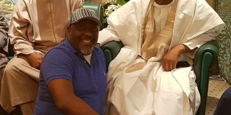 President Buhari greets Babangida at 78