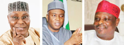 Atiku, Kwankwaso, Saraki: How 'big' declarations will affect PDP