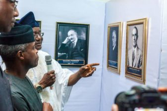 """Nigeria's Vice President, Osinbajo, declares open 2018 Independence Day Photo Exhibition, says event reminds of """"twists and turns"""" of nation's history"""