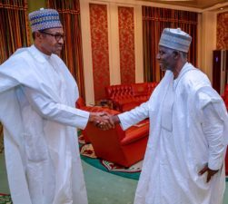 """""""Have I met you before?"""" Buhari to new DG, DSS; """"I am seeing you face-to-face for the first time in life"""", Bichi replies President"""