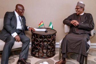 At UN, President Buhari, Akufo-Addo confer on attacks on Nigerian traders