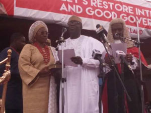 Fanfare as Buhari's ex-Minister, Fayemi, takes over as Ekiti State Governor
