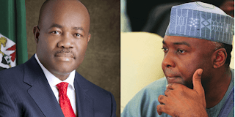 Breaking: Senate in rowdy session over sitting arrangement as Saraki stops Akpabio