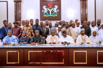 Stay faithful to your country, hold fast on integrity, Buhari urges APC Aspirants