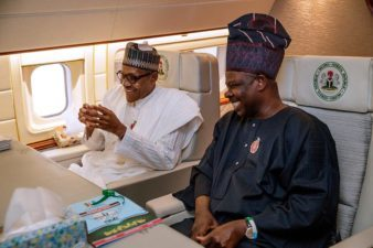 Buhari's inseparable allies, Amosun, Okorocha attend APC's South South Zonal Presidential Campaign Flag Off in Uyo
