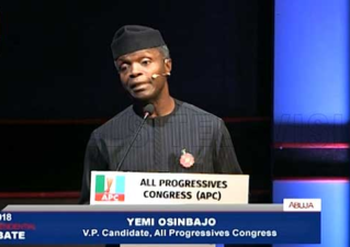 "2019 VP Debate: No nation can thrive with ""grand corruption"" Nigeria witnessed under PDP – Osinbajo"