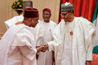 BREAKING: Kano Deputy Governor who resigned to join Kwankwaso, other supporters back in APC, meet Buhari