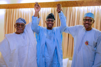 Ogun Politics: Buhari meets Osoba, Ogun APC governorship candidate, Dapo Abiodun