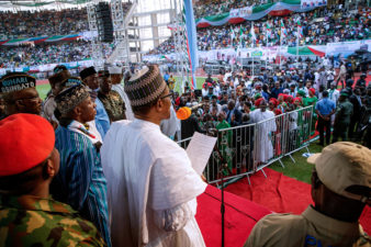 You won't regret re-electing me, Buhari assures Nigerians as he vows never to stop fighting corruption
