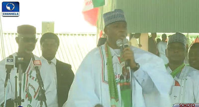 Only Atiku can unite Nigeria, tackle insecurity, Saraki speaks at PDP's Sokoto campaign, says North West is PDP zone