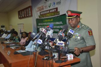 Nigerian Army Media Conference: Text of Address by DAPR Brig Gen SK Usman