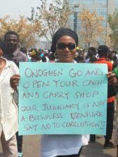 Buhari's popularity boosted as protesters paralyse activities in Lagos to support of Onnoghen's Suspension, salute President's courage