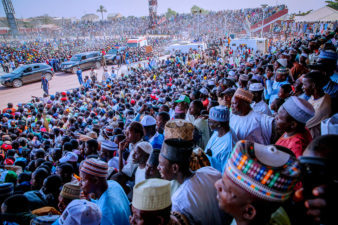President Buhari at Bauchi APC campaign rally, elated by success recorded in agricultural sector