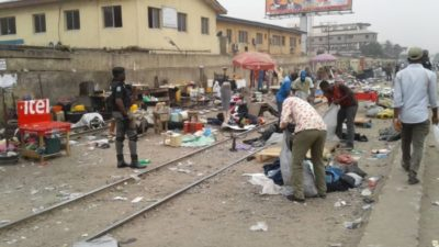 Lagos Task Force dislodges illegal traders in Ikeja