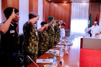 Buhari meets Security Chiefs in Abuja