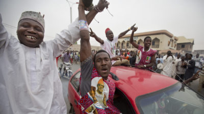 Jubilation in Nigerian cities as Buhari wins 2019 Presidential election