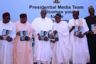 Book Launch: Osoba, as reviewer, shows Buhari picture of 1958 train ride
