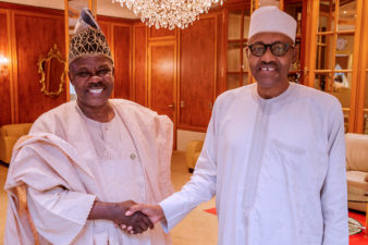 Amosun visits President Buhari, says time not ripe to talk about Oshiomhole, others