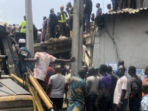 Scores of school pupils feared dead, many injured as 3-storey building collapses in Lagos
