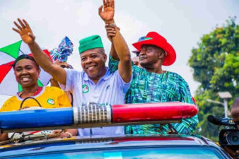 BREAKING: Ihedioha pushes APC's Uzodimma to 3rd, Okorocha's Nwosu 2nd positions, as INEC declares PDP winner of Imo governorship election