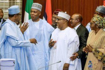 FINAL DEMOLITION! Nigeria's President hits NASS leadership, rates Saraki, Dogara 'very, very low', unpatriotic