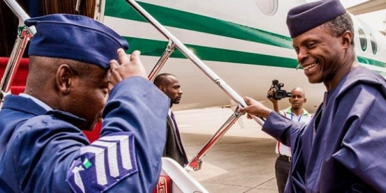 Osinbajo jets out to speak at UAE forum for promoting peace, meet Crown Prince