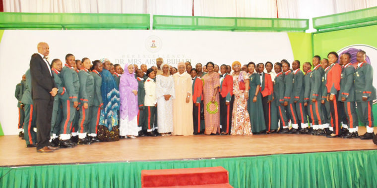 Aisha Buhari honours female soldiers, charges them to be role models