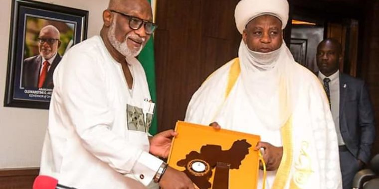 Your visit a golden handshake across the Niger, Governor Akeredolu tells Sultan of Sokoto in Akure