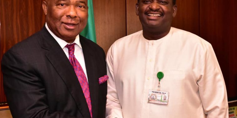 Photo: To the Future with Hope: Uzodinma with Adesina in State House